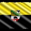 Die Flagge des Lands Sachsen-Anhalt (LSA), einem Bundesland in Deutschland